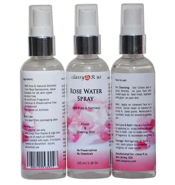 Natural Rose Water Spray For Fresh And Glowing Skin Bhawna S Fusion